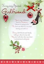 to my very special girlfriend christmas greeting card cards