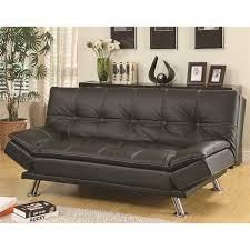 Black Sofa Sleeper by Coaster Furniture 300281 Contemporary Futon Sleeper Sofa Bed In