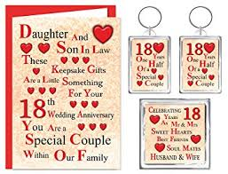 18th anniversary gift in 18th wedding anniversary gift set card 2