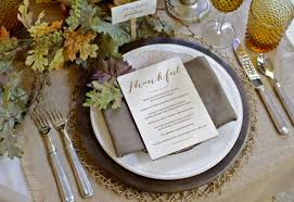 thanksgiving table setting rustic meets vintage