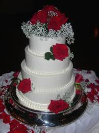 wedding information wedding cake with red roses