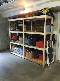 Free Standing Garage Shelves Plans by Best Wood For Shelves Garage Best Plans For Shelf In Garage Or