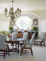 Chinoiserie Dining Room by Southampton Traditional Anthony Baratta Blue White Ginger Jars