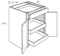 how are kitchen base cabinets b27brt base cabinet with roll out trays essex rta kitchen