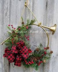 duxbury french horn holiday wreath a new england wreath company