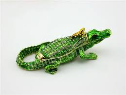 direct selling home decor factory direct selling animal crocodilian trinket box metal craft