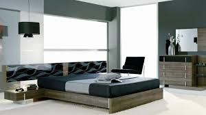 Modern White And Black Bedroom Masculine Room Spray Black High Gloss Framed Bed Maculine Bedroom