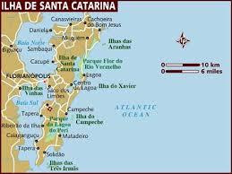 santa map map of ilha de santa catarina