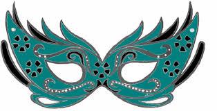 teal masquerade masks teal masquerade mask clip at clker vector clip