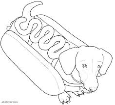 Art Of Dachshund Single Coloring Page Adult Dachshund Dog Coloring Dogs Coloring Pages