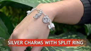 ring charm bracelet images Silver charms with split ring for charms bracelet wholesale from jpg