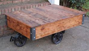 Industrial Cart Coffee Table Vintage Style Industrial Cart Coffee Table Factory Cart Table
