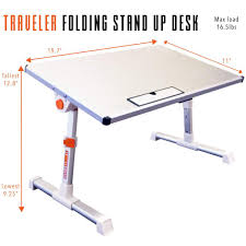 Stand Up Computer Desk Adjustable by Traveler Folding Stand Up Desk Stand Steady