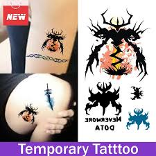 1 sheet nevermore dota sword waterproof stickers temporary tattoo