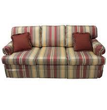 ethan allen striped sofa ebth