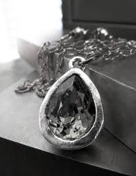 swarovski diamond necklace images Swarovski crystal teardrop pendant necklace black diamond and jpg