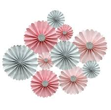 backdrop paper pink and silver glitter rosette backdrop paper fans candy buffet