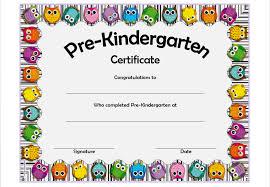 kindergarten certificates pre kindergarten certificate template 4 the best template collection