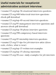 Executive Assistant Resume Sample by Top 8 Receptionist Administrative Assistant Resume Samples