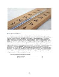 thermal alteration or influence in