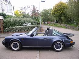 classic convertible porsche classic chrome porsche 911 carrera 3 2 sport targa 1985 c blue