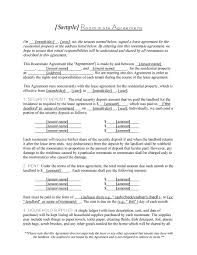 Free Lease Agreement 40 Free Roommate Agreement Templates U0026 Forms Word Pdf