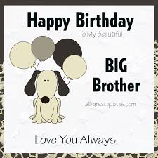 Happy Birthday Wishes To Big Fantastic Big Brother Happy Birthday Greeting Card Picsmine