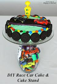 cars birthday cake race car themed birthday cake cake stand