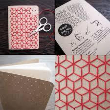diy designs diy by punching holes in notebook cover and designing with yarn