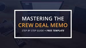mastering the crew deal memo with free template