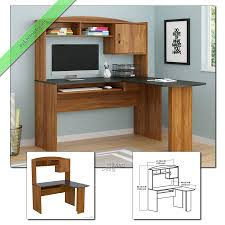 Mainstays L Shaped Desk With Hutch Multiple Finishes by Home Furniture Office Furniture Desks Writing Desks Vio Black