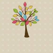 beautiful stylish autumn tree with motley leaves vector clipart