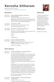 Finance Resume Sample by Financial Resume Samples Visualcv Resume Samples Database