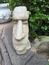 island concrete garden ornament