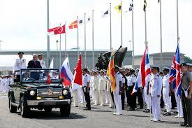 Singapore Navy Flag President Tony Tan Reviews 44 Warships At International Maritime