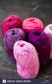 different types of purple different types of pink and purple yarn stock photo royalty free