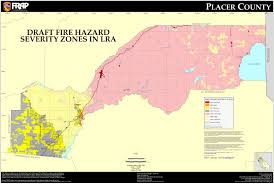 California Zip Code by Cal Fire Placer County Fhsz Map