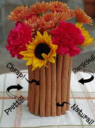 recycled crafts a cinnamon stick centerpiece