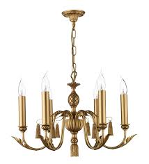 Classic Chandelier Classic 6 Light Etched Gold Chandelier Antique Gold