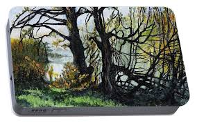 black trees entanglement portable battery charger for sale by