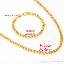 long link necklace images 2018 brazil long chain 14k yellow gold filled 6mm pillar rod cuban jpg