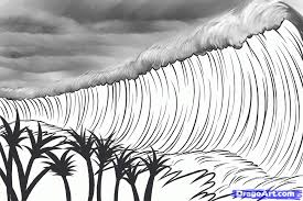 how to draw a tsunami tsunami tsunamis step by step