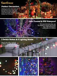 Outdoor Christmas Lights Amazon by Amazon Com Easydecor Solar String Lights 200 Led Waterproof 72ft