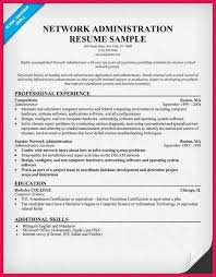 Sample Resume Of Network Administrator by Network Administrator Resume Sop Examples