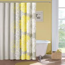 amazon com madison park lola cotton shower curtain gray yellow