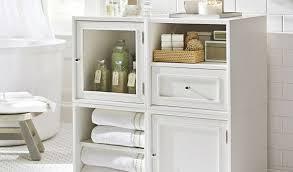 Bathroom Floor Storage Cabinet Artistic Collection In White Storage Cabinet With Sauder Bath Soft