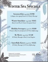 winter spa specials tickets in edison nj united states