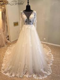 aliexpress com buy luxury lace ball gown long sleeve wedding