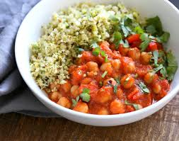 happy thanksgiving spanish spanish chickpea stew with cauliflower broccoli rice vegan richa