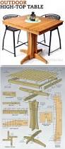 Wood Plans Outdoor Furniture by Outdoor High Top Table Plans Outdoor Furniture Plans U0026 Projects